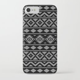 Aztec Essence Ptn III Grey on Black iPhone Case