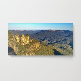 Three Sisters, Jamison Valley, Blue Mountains, Sydney Metal Print
