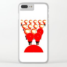 THE MARCH OF THE LIGHTBULBS Clear iPhone Case