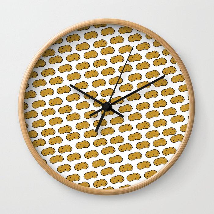 Too Many Potatoes Wall Clock
