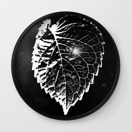 Space Leaf Wall Clock
