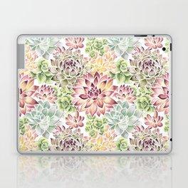 Bright Watercolor Succulents Laptop & iPad Skin