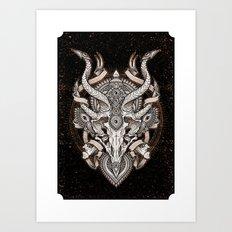 Siren Skull Art Print