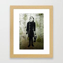Virus Girl Framed Art Print