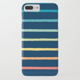 Blue Festival Rainbow Stripe iPhone Case