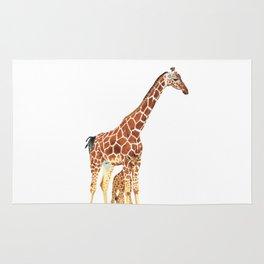 Giraffe Art - A Mother's Love - By Sharon Cummings Rug