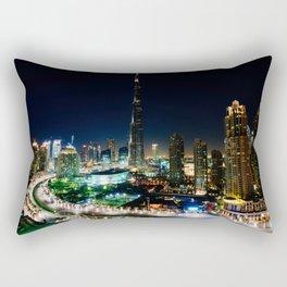 Dubai By Night Rectangular Pillow