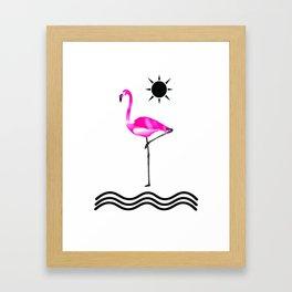 Pink Flamingo Love Framed Art Print