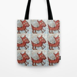 Scotty - Abstract playful fun dog Tote Bag