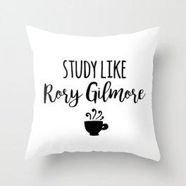 Gilmore Girls - Study like Rory Gilmore Throw Pillow