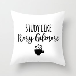 Gilmore Girls - Study like Rory Gilmore Throw Pillow