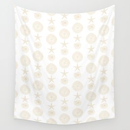 Beachy Seashell Pattern Wall Tapestry