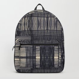 Modern Techno Plaid Backpack
