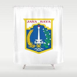 flag of jakarta or Djakarta Shower Curtain
