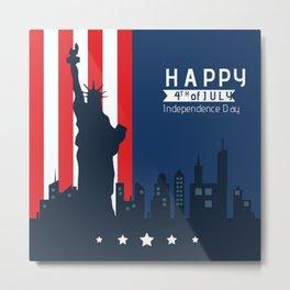Happy Fourth of July America!  Metal Print
