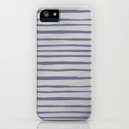 Violet gray silver watercolor brushstrokes stripes iPhone Case