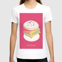 hamburger T-shirts featuring Hamburger by Haina
