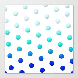 Blue Polka Dots Canvas Print