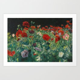 John Singer Sargent , Poppies (a study of poppies for carnation lily, lily, rose), 1886 Art Print