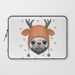 Pug Rudolph Laptop Sleeve