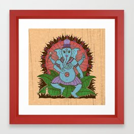 peace ganesh Framed Art Print