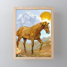 Sun King Stallion Framed Mini Art Print