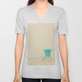 the sound of the outer ocean on the beach ... Unisex V-Neck
