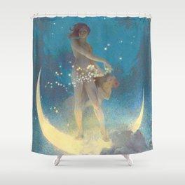 "Edwin Blashfield ""Spring Scattering Stars"" Shower Curtain"