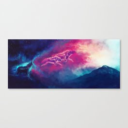 WOLF: Painting The Earth With My Song Canvas Print