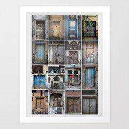 OLD DOORS Art Print