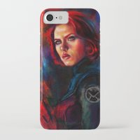 black widow iPhone & iPod Cases featuring Black Widow by Five-Oclock
