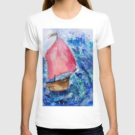 Little Boat Fighting the Storm T-shirt