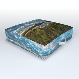 Wichitas Wonder - Fall Colors and Big Sky in Oklahoma Outdoor Floor Cushion