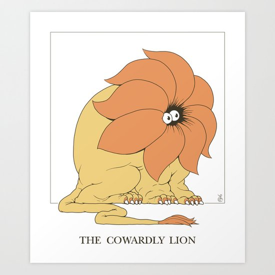 The Cowardly Lion by felixcolgrave