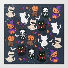 Kitty - Halloween Canvas Print
