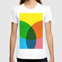 rgb flower T-shirt