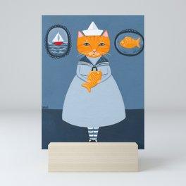 Annalise and Her Fish Mini Art Print