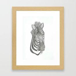 zebra head Framed Art Print