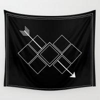 arrow Wall Tapestries featuring Arrow by Aonair Designs