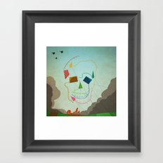 flying skull Framed Art Print