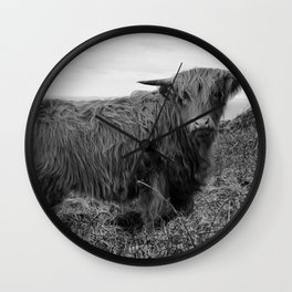 Highland cow II Wall Clock