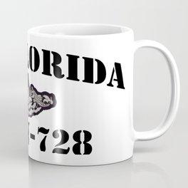 USS FLORIDA (SSGN-728) BLACK LETTERS Coffee Mug
