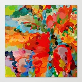 color bubble storm Canvas Print