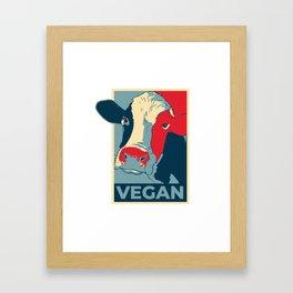 Vegan Framed Art Print
