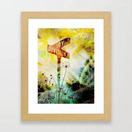 """Corner of Joy And Division"" Framed Art Print"