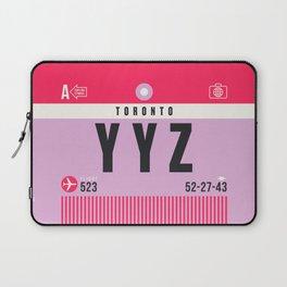 Luggage Tag A - YYZ Toronto Canada Laptop Sleeve