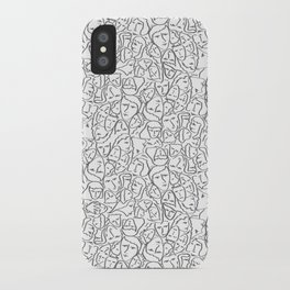 Call Me By Your Name Elios Shirt Faces in Faded Outlines on White CMBYN iPhone Case