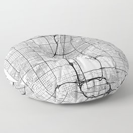 Las Vegas Map White Floor Pillow
