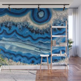 Blue wave Agate Wall Mural
