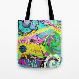 happy graffitti Tote Bag